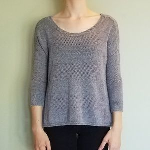 Gray American Eagle Mixed Knit Sweater XS